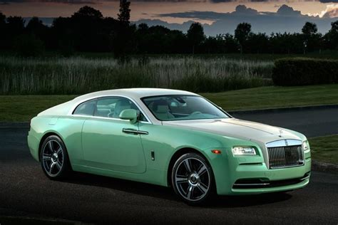 green rolls royce jade pearl rolls royce wraith commissioned by michael fux