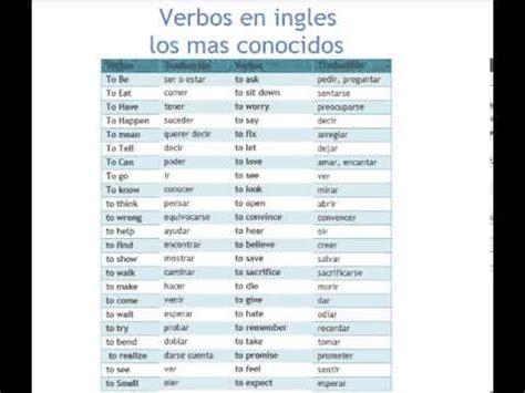 preguntas mas comunes en ingles con pronunciacion verbos en ingles top los mas usados youtube