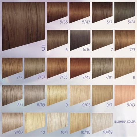 colour chart of the hair colour brand wella koleston wella illumina color 9 43 google zoeken lookin good