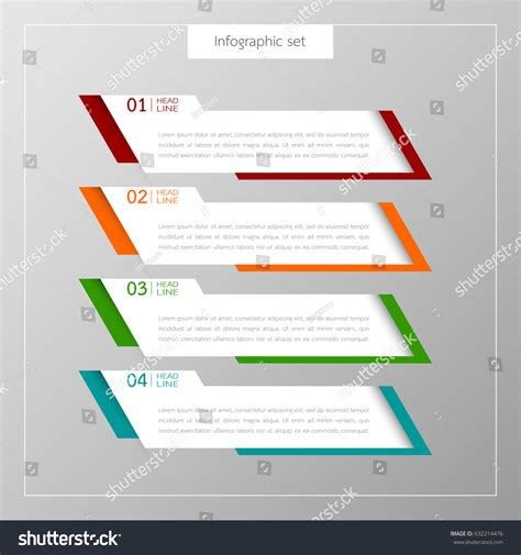 Add Website Text Box To Business Card Template In Word by Infographic Button Template Banner Set Colorful Stock