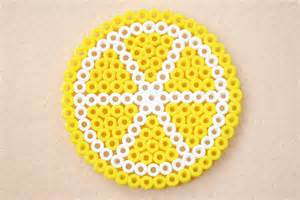 perler bead lemon coasters fun family crafts