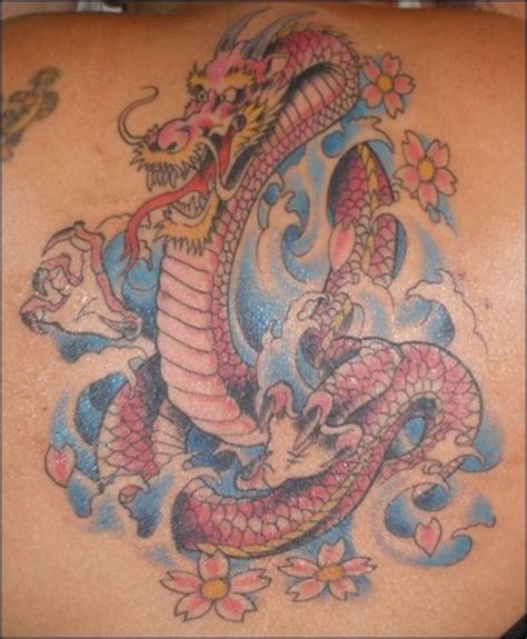 dragon tattoo with cherry blossom pink dragon cherry blossom tattoo picture at