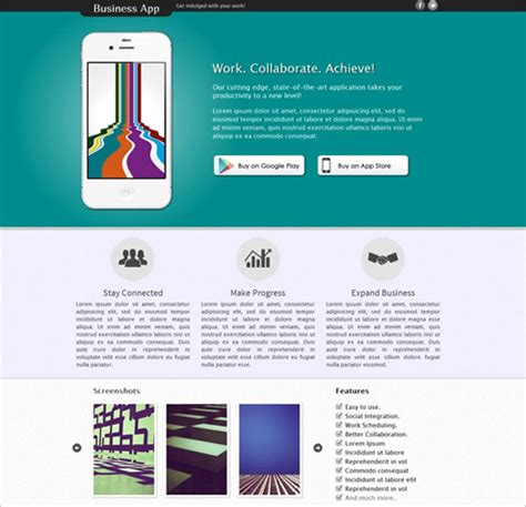 25 Free Html Landing Page Templates 2017 Designmaz Html Web Application Templates Free