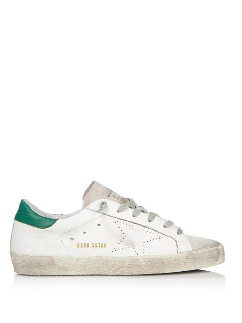 golden goose low top sneakers lyst golden goose deluxe brand superstar low top leather