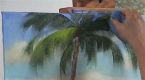 acrylic painting with sponge acrylic techniques use a sponge to paint a landscape