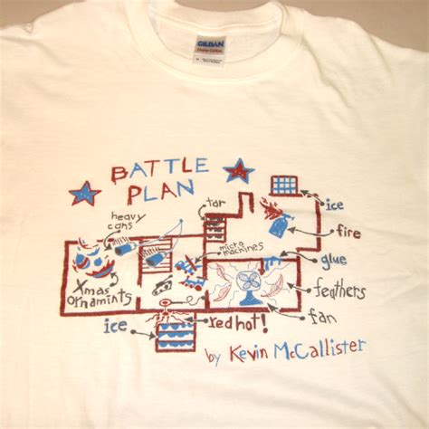 kevin mccallister s battle plan t shirt