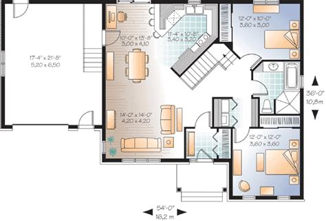 Small House Plans With Garage Attached by Cozy Bungalow With Attached Garage 21947dr