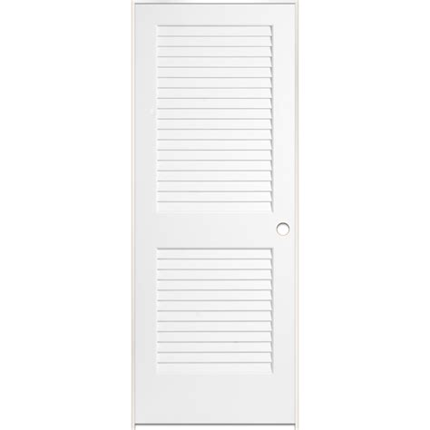 Interior Louvered Doors Lowes Shop Reliabilt White Plantation Louver Pine Single Prehung Interior Door Common 36 In X 80 In
