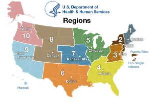 map regions oash regional offices hhs gov
