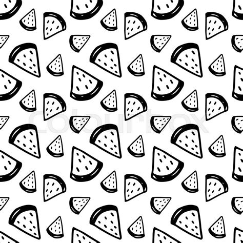 wallpaper black and white cute doodle watermelon pattern with hand drawn ink fruits cute
