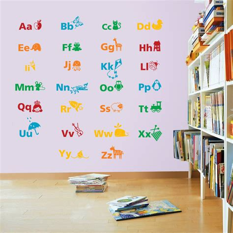 educational wall stickers alphabet educational wall stickers wall stickers decals
