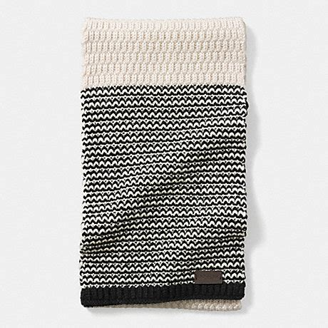 how to check your in knitting check knit scarf f85133 black coach
