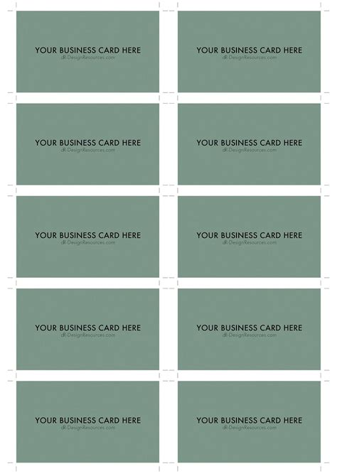 a4 name card template word a4 business card template psd 10 per sheet business