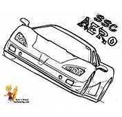 Car Design Coloring Pages