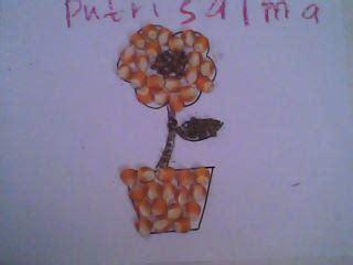 gambar kolase bunga matahari  biji bijian gambar bunga
