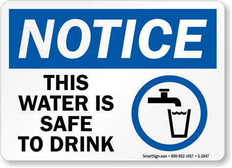 Will Only Water And Tea Be A Safe Detox by Potable Water Fresh Water Signs Free Shipping