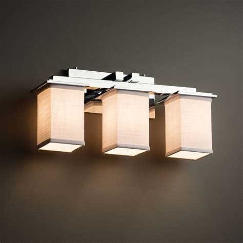 justice lighting fixtures justice design fab 8673 montana textile 3 light vanity