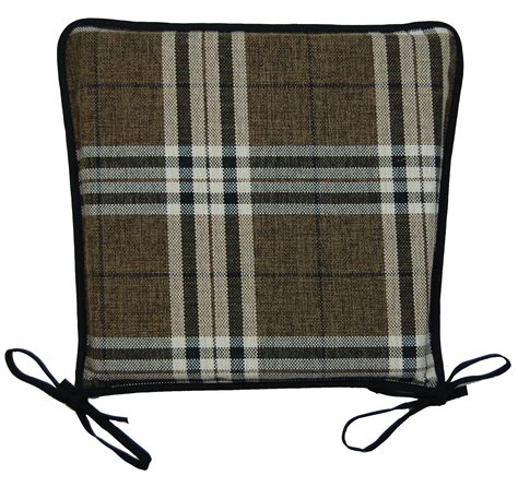 Seat Pads For Dining Chairs Kitchen Seat Pad 100 Polyester Tartan Check Garden Dining Square Chair Cushion