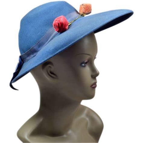 unique cornflower blue vintage hat from easterbelles