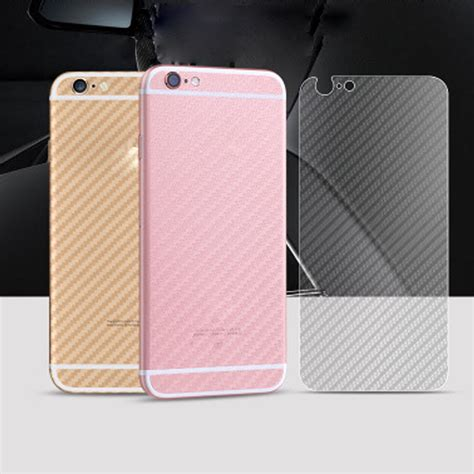 Screen Protector 3d Clear Carbon Fiber Iphone 55g5sback Skin 3d clear carbon fiber back rear screen protector for