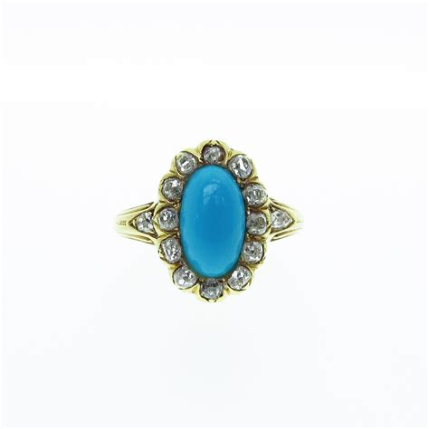 a turquoise cluster ring davids jewellers