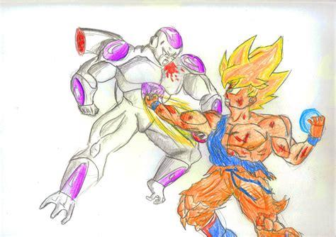 Goku Vs Frieza goku vs frieza by dragickrstajic on deviantart