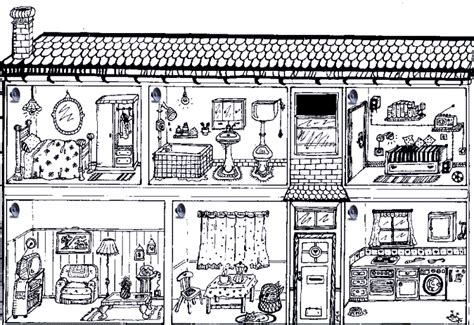 coloring pages of things inside a house rooms of the house clipart 35
