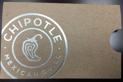 Chipotle Uk Gift Card - gift card sleeves and brand messaging plastek cards