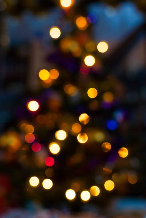 christmas tree bokeh photography by mark seton