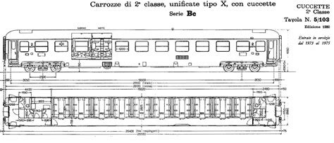 carrozza ferroviaria carrozze uic x parte sesta cuccette scalaenne note