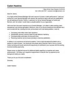 leading professional general manager cover letter exles