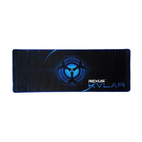 Mousepad Rexus jual rexus kvlar gaming mouse pad black blue harga kualitas terjamin blibli