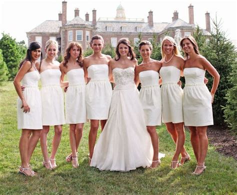 White Bridesmaid Dress by Bridesmaids In White Weddingbee