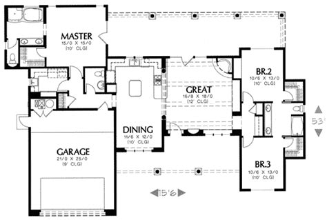 Pueblo Style House Plans | pueblo style home plan 16330md architectural designs