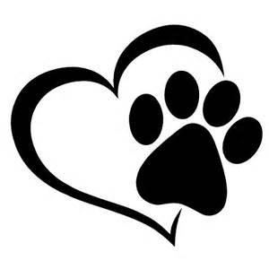 Paw Print Wall Stickers hot pet paw print with heart dog cat vinyl decal car