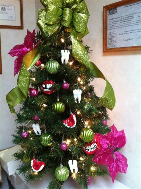 our quot dental quot tree i made the dental ornaments bristles pediatric