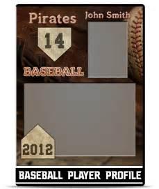 baseball player profile template teamtemplates