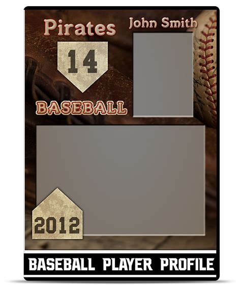player card template baseball player profile template teamtemplates