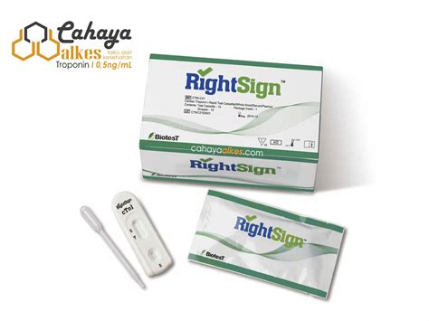 Alat Rapid Test rapid test troponin i casette rightsign cahaya alkes