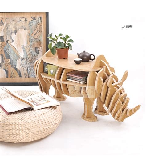 decorative crafts for home 100 wood rhino animal table european diy arts crafts home