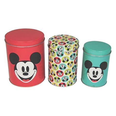 Retro Kitchen Canisters by Retro Mickey Mouse Set Of Canisters Tea Coffee Sugar