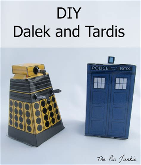 diy tardis and dalek doctor who paper crafts