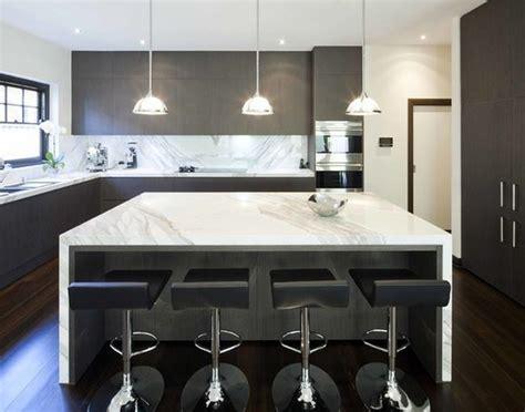 Kitchen Island Marble by Ilot Central Cuisine Moderne Cuisine En Image