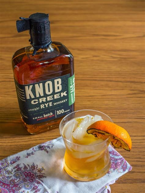 Knob Creek Bourbon Recipes by Knob Creek 174 Rye Whiskey Fashioned With Grilled Orange