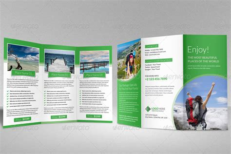 travel agency trifold brochure template by janysultana