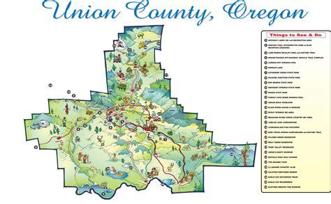 map of union oregon union county oregon