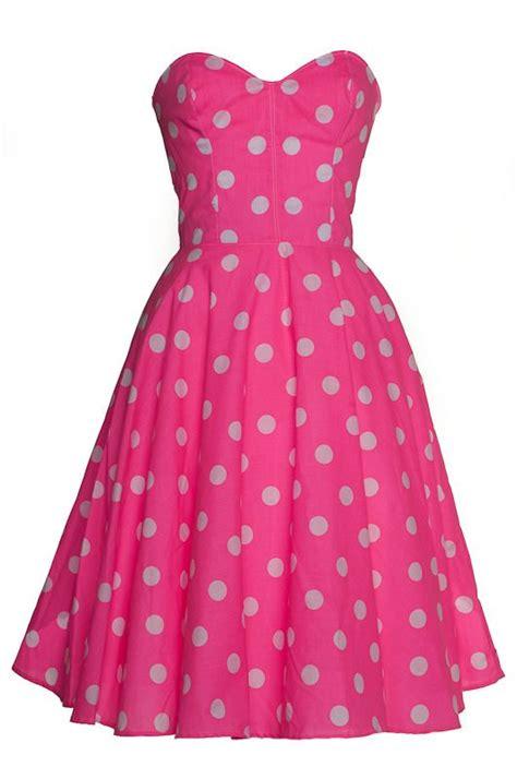 Dress Anak Polka Pink icons pink polka dots and swing dress on