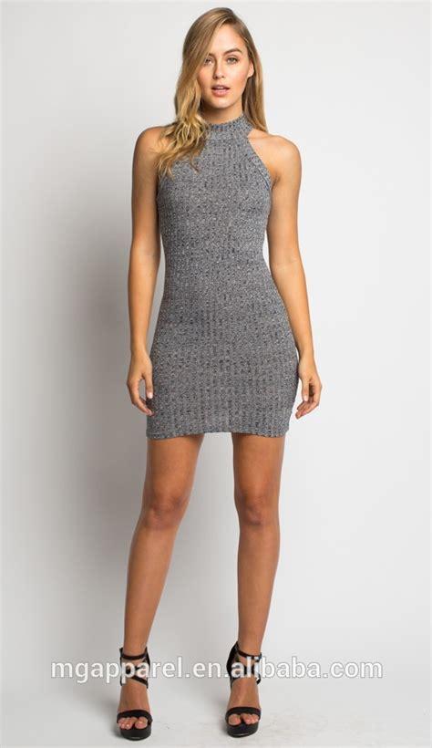 pattern dress tight latest design high neck short mini dress women knit tight