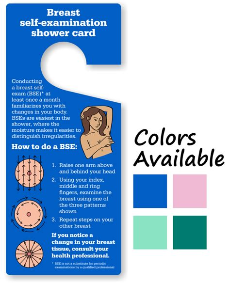 Tg Card Template by Breast Cancer Self Examination Tags