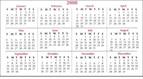 Calendrier De 2008 Girlshopes